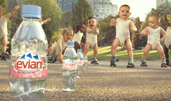 Evian's Roller Babies set the Guinness Book of World Records for the most views of an ad.