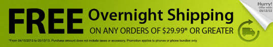 Straight Talk Promo Codes for free overnight shipping on any $30 and over!